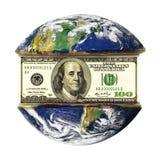美元地球 图库摄影
