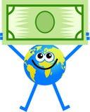 美元地球 库存图片