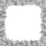 美元堆作为背景 免版税库存照片
