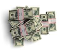 美元堆 库存图片