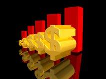 美元增长 免版税库存照片