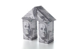 美元家庭房租销售额 免版税库存图片