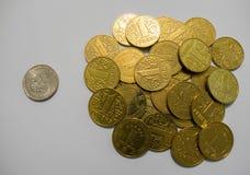 美元对乌克兰hryvnia 免版税图库摄影