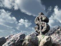 美元岩石 库存照片