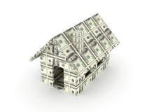 美元房子玩具 免版税库存图片