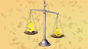 美元打欧元 3d翻译 股票视频