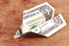 美元折叠了 库存照片