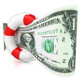 美元抢救概念。 免版税库存照片
