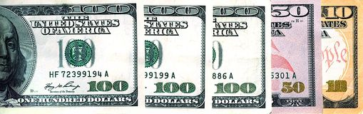 美元指明团结了我们 库存图片