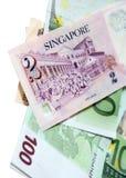 美元新加坡二 库存图片