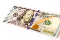 100美元新的钞票 图库摄影