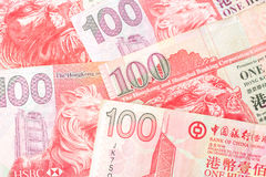 100美元是香港本国货币  免版税库存图片