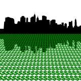 美元曼哈顿地平线 免版税库存照片