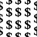 美元标志无缝的样式 图库摄影