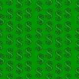美元标志无缝的样式 免版税库存图片