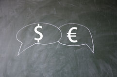 美元欧元符号 免版税图库摄影