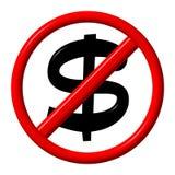 美元没有 免版税图库摄影