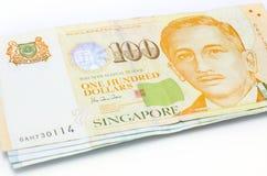 美元注意新加坡 库存图片