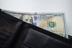 美元滚动了特写镜头 免版税库存照片