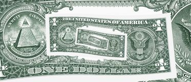 美元漏洞循环一 免版税库存照片