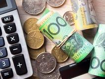 美元澳大利亚钞票 库存照片