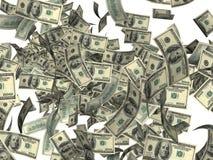 美元烟花 免版税库存图片
