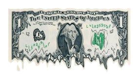 美元熔化 库存照片