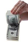 美元现有量 库存照片