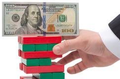 美元的不稳定 免版税图库摄影