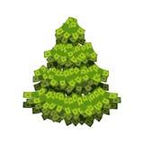 从美元的圣诞树 树没有金钱 库存照片