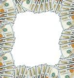 从美元的框架在信封 免版税图库摄影