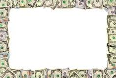 从美元的框架在白色 免版税库存照片