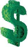 美元的符号修剪的花园 库存例证