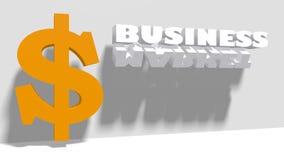 美元的符号和相对企业词 向量例证