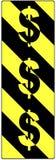 美元的符号签署业务量警告 免版税库存照片