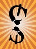 美元的符号赞许 免版税图库摄影