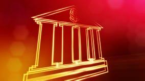 美元的符号银行象征  光亮微粒财务背景  3D与景深的seamleass动画 库存例证