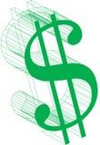 美元的符号wireframe 免版税库存照片