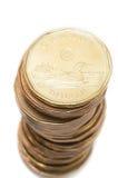 美元硬币堆 免版税库存图片