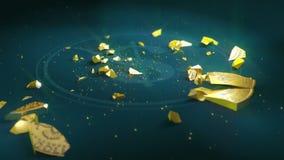 美元硬币破坏 皇族释放例证