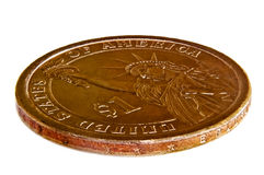美元硬币 免版税库存图片