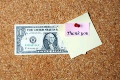 美元稠粘的笔记 免版税图库摄影