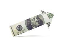 美元箭头origami 图库摄影
