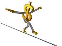 美元绳索符号钢结构 免版税库存图片
