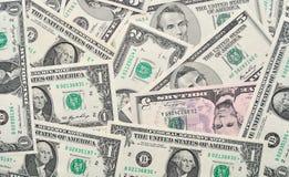 美元背景。 免版税库存图片