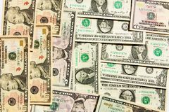 美元背景 库存图片