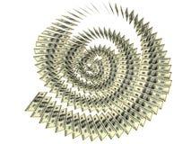 美元螺旋 库存图片
