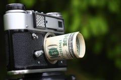 美元透镜 图库摄影