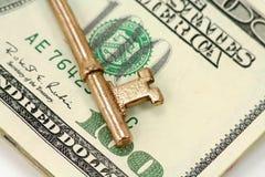 美元金子关键字 免版税库存图片