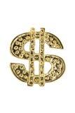 美元金黄符号 免版税库存照片